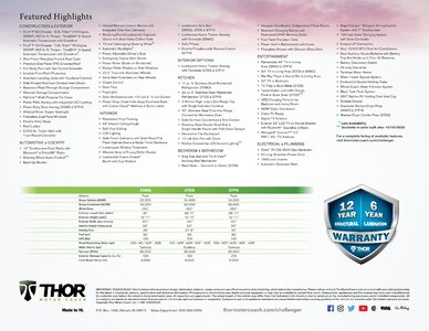 2021 Thor Challenger Brochure page 2